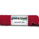 Red Microfiber Golf Towel