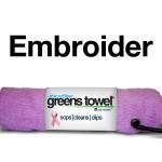 Logo Pink Microfiber Golf Towel