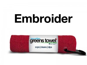 Custom Logo Red Golf Towel