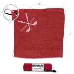 Red Custom Logo Golf Towels