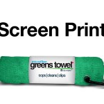 Imprinted Shamrock Greens Towel