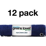 Navy Blue Microfiber Greens Towel