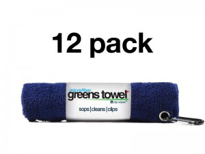 Navy Blue Microfiber Greens Towel