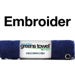Custom Logo Golf Towel Navy Blue