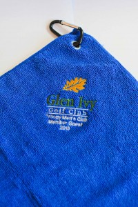 Embroidered Gold Towel