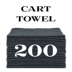 200 charcoal gray cart towels