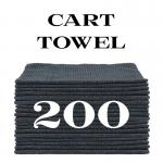 200 charcoal gray cart towels