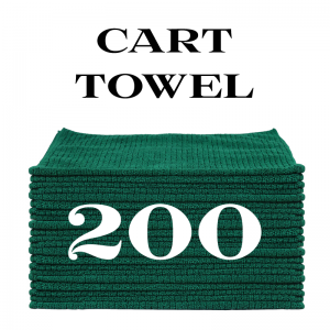 200 forest green cart towels