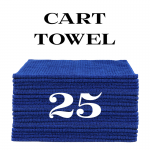 25 royal blue cart towels