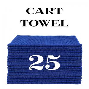 25 royal blue cart towels