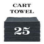 25 charcoal gray cart towels