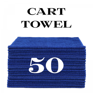 50 royal blue cart towels
