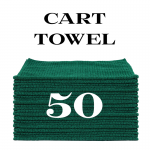 50 forest green cart towels
