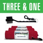 Three and One Greens Towel/club brush combination