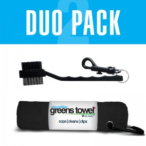 microfiber golf towel and golf club brush combo