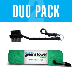 Shamrock Greens Towel and Club Brush combined