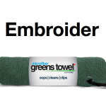 Custom Embroidered Forest Green Golf Towels