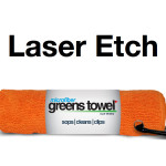 Laser Etch Custom Logo Microfiber golf Towel Orange