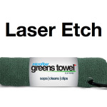 Laser Etch Custom Logo Microfiber Golf Towel Forest Green