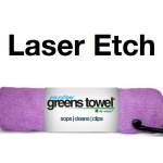 Laser Etch Custom Logo Microfiber Golf Towel Pink