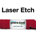 Laser Etch Custom Logo Microfiber Golf Towel Red