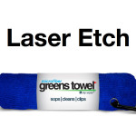 Laser Etch Custom Logo Microfiber Golf Towel Blue