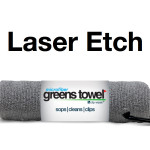 Laser Etch Custom Logo Microfiber Golf Towel gray