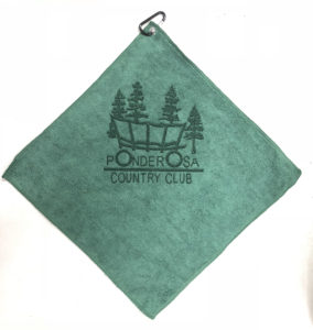 Forest Green Golf Towel Custom Laser Etch Logo