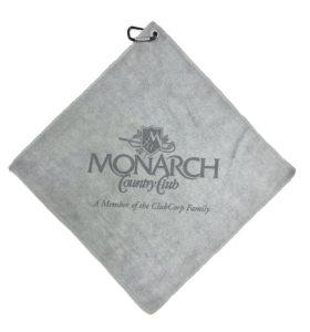 Gray Golf Towel Custom Laser Etch Logo