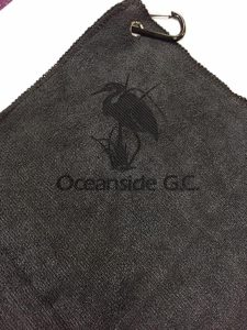 Custom Logo Microfiber Golf Towel Laser Etch