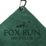 Custom Logo laser Etch Forest Green Microfiber Golf Towels
