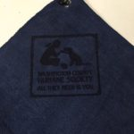 Custom Logo Microfiber Golf Towel Laser Etch Navy Blue