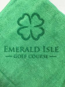 Custom laser etch golf towel