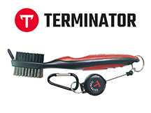 Terminator golf club brush red
