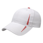 Golf Cap White-Red performance material