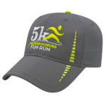 Performance Cap Charcoal Gray-Neon Yellow