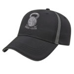 Golf Hat Black-Charcoal