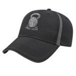 Golf Hat Black-Charcoal
