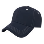 Contrast Stitch Navy Blue Golf Outing Hats