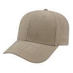 Modified Flat Bill Golf Cap Khaki