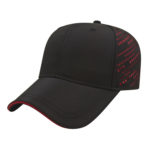 Fashion golf outing caps black red